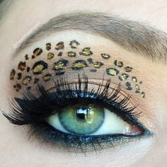 Leopard look for Halloween Makeup Tutorial - Makeup Geek Makeup Geek, Skin Makeup, Makeup Tips, Beauty Makeup, Beauty Tips, Makeup Ideas, Leopard Eyes, Leopard Makeup, Animal Makeup