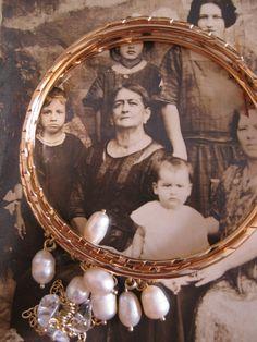Aros perlas, de la Bisabuela Adela. Colección Primavera Verano 2.014