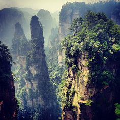 In a remote part of the mountains of China's Hunan province lie over 3,000 spires of Cretaceous sandstone covered with clinging pine trees. The United Nations named Wulingyuan National Park a UNESCO World Heritage Site in 1992, calling it one of the most remarkable geomorphological spectacles that exists on our planet.