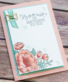 Stampin Up! UK Feeling Crafty - Bekka Prideaux Stampin Up! UK Independent Demonstrator: Birthday Blooms Card - A Class You Could Take Card Making Inspiration, Making Ideas, Birthday Bouquet, Making Greeting Cards, Stamping Up Cards, Mothers Day Cards, Handmade Birthday Cards, Flower Cards, Creative Cards