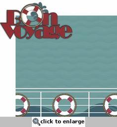 Ports Of Call: Bon Voyage 2 Piece Laser Die Cut Kit