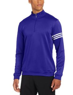 018ba6a0e69 Made from polyester this mens Climalite long sleeve layering golf pullover  by Adidas offers a relaxed fit for added comfort and freedom of movement!