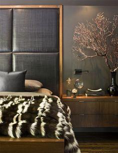 Modern masculine master bedroom design. Your Okanagan Realtors at Century 21 Executives Realty Ltd in Vernon, BC. Kelowna Real Estate.