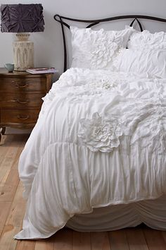A continuation of my love affair with white bedding.
