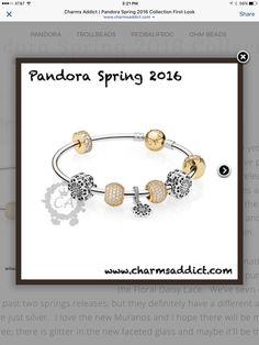 Love the new gold CZ clips! Pandora Gold, Daisy, Beads, Lace, Bracelets, Floral, Jewelry, Beading, Jewlery
