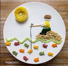 Fun Food the creative plates from Cute Chichai - Créamalice - - Cute Food, Good Food, Food Art For Kids, Food Kids, Creative Food Art, Edible Arrangements, Diet Food List, Food Decoration, Fruit Art