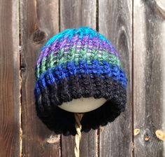 Multi colored baby beanie