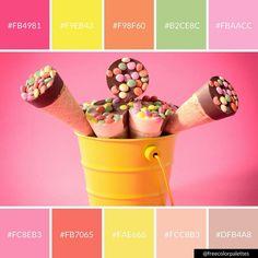 Summer | Ice Cream | Bright |Color Palette Inspiration. | Digital Art Palette And Brand Color Palette.