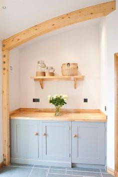Self catering holiday cottage on the Isle of Lewis near Stornoway with stunning sea views. Best Kitchen Designs, Rustic Kitchen, Own Home, Rustic Wood, Cool Kitchens, Space Saving, Floating Shelves, Kitchen Cabinets, Interior Design