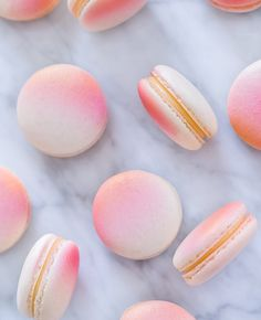Pink and Gold Macaroons with Lemon Filling.