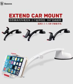 Baseus Extended Car Mount Phone Holder iPhone 6, iPhone 6 Plus