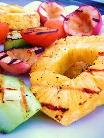 Grilled Fruit                                                    One of Shelly's favorite thing to grill.