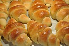 Homemade flaky crescent rolls
