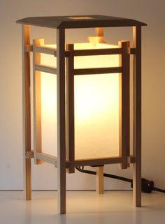 Japanese style Shoji lantern table lamp by BarnKatDesigns on Etsy Japanese Lighting, Japanese Lamps, Wooden Table Lamps, Wooden Lanterns, Asian Lamps, Style Asiatique, Woodworking Inspiration, Lantern Lamp, Floor Lamp