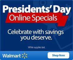 WALMART $$ Presidents' Day Online Specials! Walmart Deals, Presidents Day, Online Deals, Learning, Business, Places, Life, Store, Business Illustration