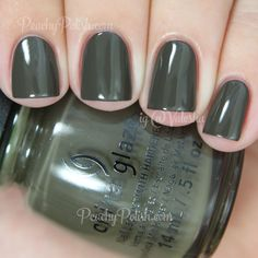 China Glaze Don't Get Derailed | Fall 2014 All Aboard Collection | Peachy Polish #green