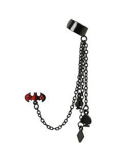 DC Comics Harley Quinn Batman Cuff Earring | Hot Topic $8.50
