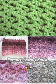 Parquet Crochet Stitch - Free Crochet Pattern and Tutorial - Meladora's Creations
