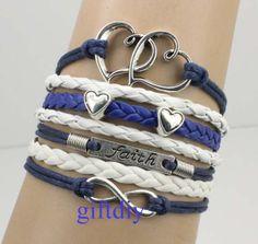 silver infinity braceletfaith bracelethearts by giftdiy on Etsy, $6.99