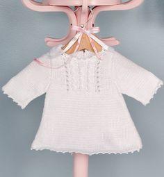 Modèle robe finitions picot bébé - Modèles tricot layette - Phildar