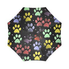 On silent paws black by Nico Bielow Foldable Umbrella