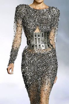 Glam Industrial ...and kind of space-age! #fashion couture details