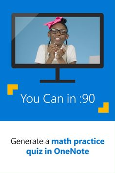 You can generate a practice quiz directly from the Math Assistant in OneNote with this time-saving tip! Learn the step-by-step process from fourth-grader Samaya. Time Saving, Saving Tips, Office 365 Education, Math Practices, Teaching Strategies, Study Tips, Classroom, Social Media, Canning