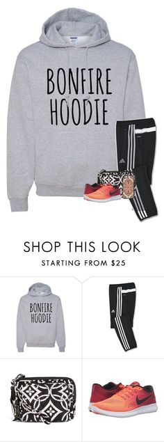 """Bonfire Tonight! "" by your-daily-prep ❤ liked on Polyvore featuring adidas, Vera Bradley, NIKE and Casetify"