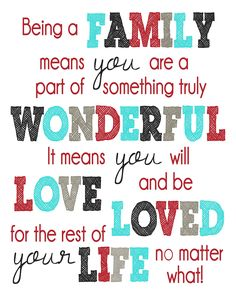 Love this!! I'm truly blessed by my lil family and sharing it with two amazing people who are the loves of my life!! We have a genuine love and family bond that is truly priceless!! I'm surrounded by and blessed with so much love every day of my life and I thank God for bringing my hubby and my daughter into my life and making them mine! :-) <3