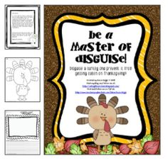"""Turkey activities: Be a master of disguise! Have your kiddos use materials to disguise a turkey from being eaten on Thanksgiving! Their """"Tom"""" or """"Tina"""" turkey can be a police officer, ballerina etc. Thanksgiving Writing, Thanksgiving Preschool, Thanksgiving Crafts For Kids, Fall Crafts, Turkey Disguise, Creative Activities, Book Activities, Preschool Lessons, Classroom Fun"""