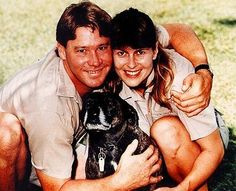 Steve and Terri Irwin with Sui. These people were my childhood ): Back when I wanted to be a vet in Australia or Africa.