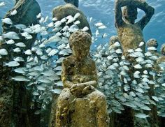 Silent Evolution Underwater Eco-Exhibit in Cancun, Mexico by Jason Decaires Taylor