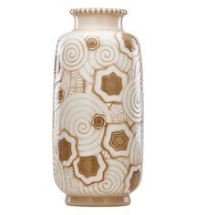 ADRIEN LEDUC lSEVRES Important and massive Art Deco glazed porcelain vase, France, 1920s