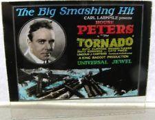 Vintage 1924 House Peters The Tornado Magic Lantern Movie Glass Slide Universal