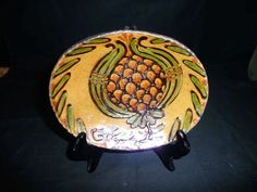 Shooner Redware Plate with Pineapple - Mary - 2005
