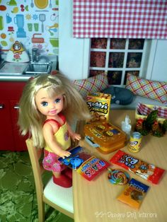 Barbie's little sister, Kelly from Inside The Barbie Craft Room