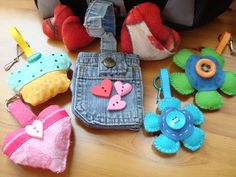 Kid's Backpack Clips - Hand Sewn -Created by Pamela Nicholas