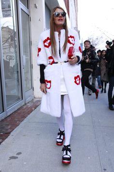 Los mejores looks de Street Style en la Semana de la Moda de Nueva York: Anna Dello Russo