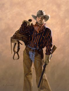 The Cowboy, by Larry Selman, original in Private collection