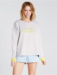 Sweatshirt Gris chine - Sunday