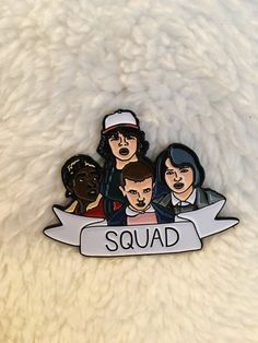 New Stranger Things Squad Enamel Pin Pins Flair Pin by ShopJosieB
