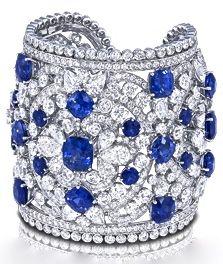 Sapphire & Diamond Cuff by Graff