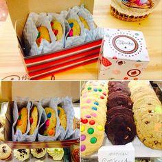 Cookies! Tradicional, M&M'S World e chocolate com laranja! (The Cupcake Shop, Porto Alegre, RS, Brasil)