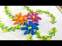 YouTube Different Stitches, Hand Embroidery, Needlework, Kids Rugs, Hands, Videos, Youtube, Diy, Handmade