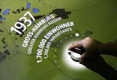 ART+COM : Interactive map at the Hamburg Museum
