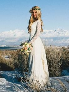 Betsy Couture Original Wedding Gown-Mandi-Cotton Lace Boho Wedding Gown