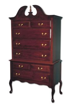 Highboy Dresser | Queen Anne Highboy - Ohio Hardwood Furniture