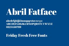 I could use this one.  Thanks! Friday Fresh Free Fonts