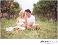 Sweet maternity portrait with baby daddy