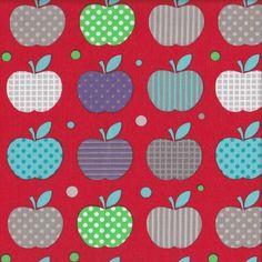 Apples for Teacher - Red - Stenzo Poplin